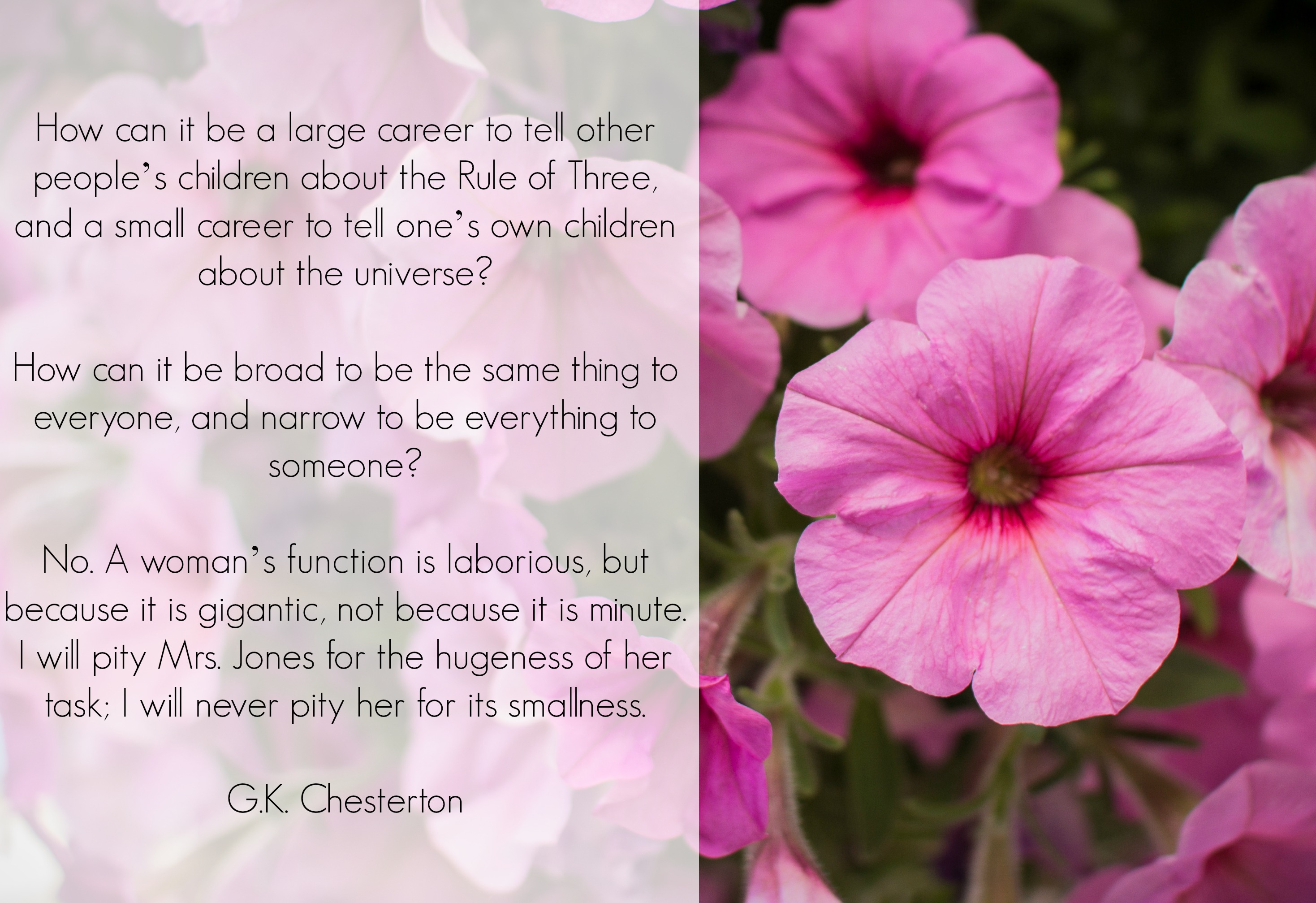 Chesterton on the Importance of Motherhood